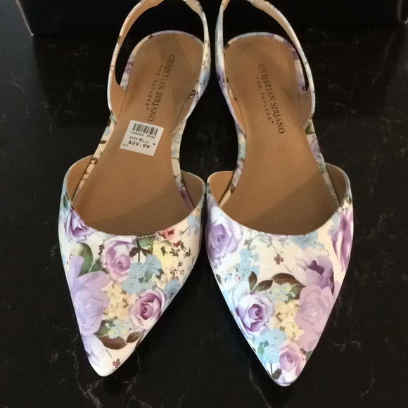 46f51c4a714 Christian Siriano size 9 1 2 floral flats
